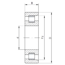 220 mm x 460 mm x 145 mm  ISO NF2344 cylindrical roller bearings