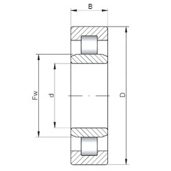 280 mm x 420 mm x 65 mm  ISO NU1056 cylindrical roller bearings