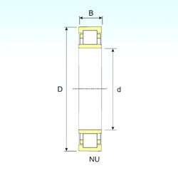 220 mm x 460 mm x 145 mm  ISB NU 2344 cylindrical roller bearings