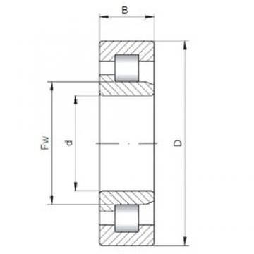 170 mm x 310 mm x 110 mm  ISO NJ3234 cylindrical roller bearings