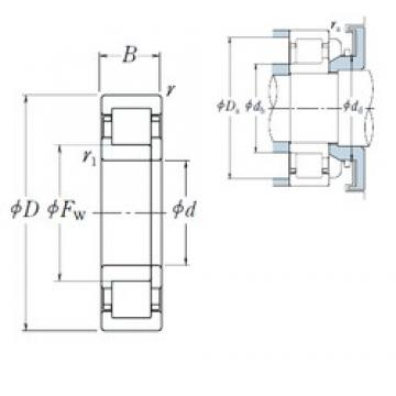 280 mm x 420 mm x 65 mm  NSK NUP1056 cylindrical roller bearings